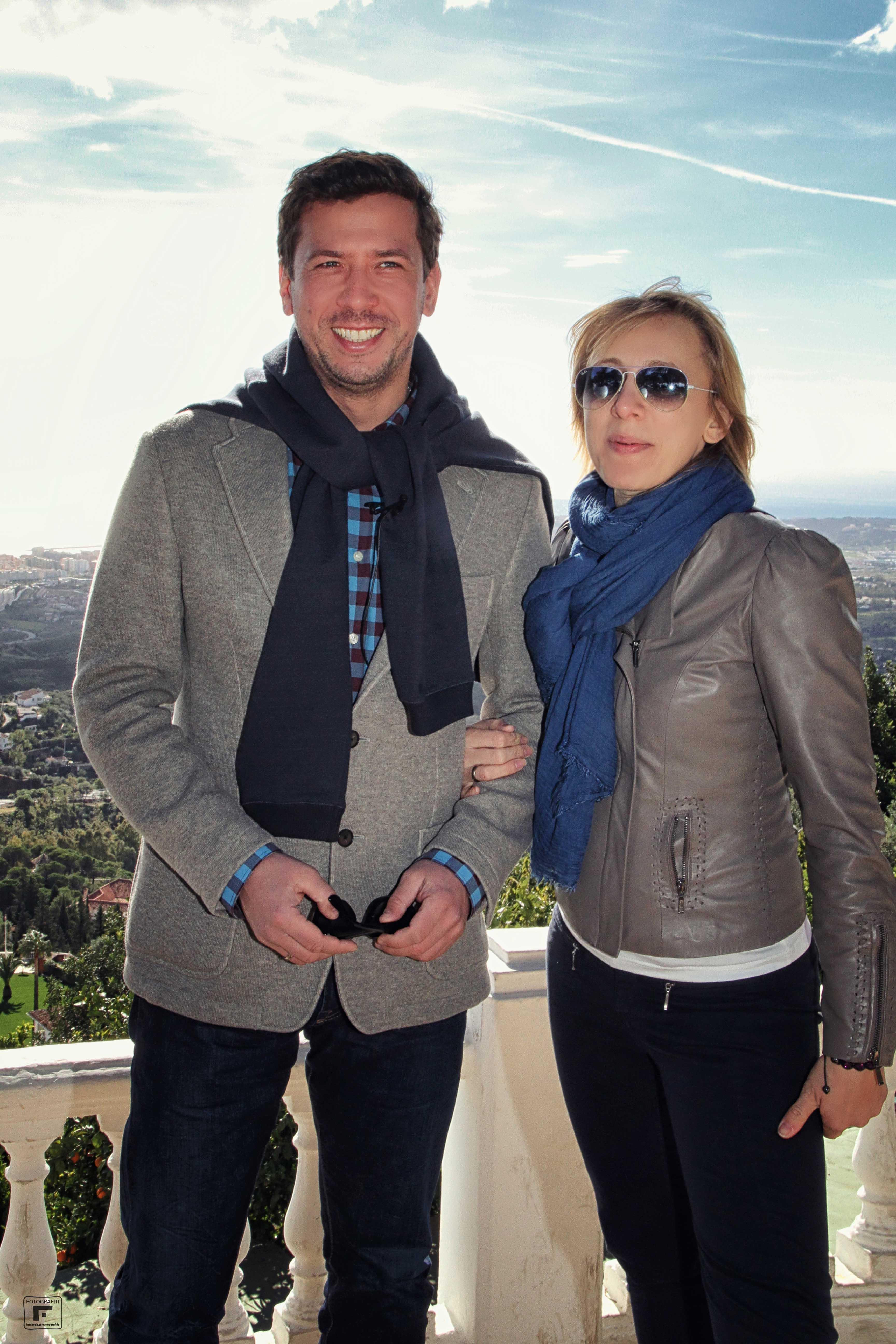 Andrei Merzlikin with wife