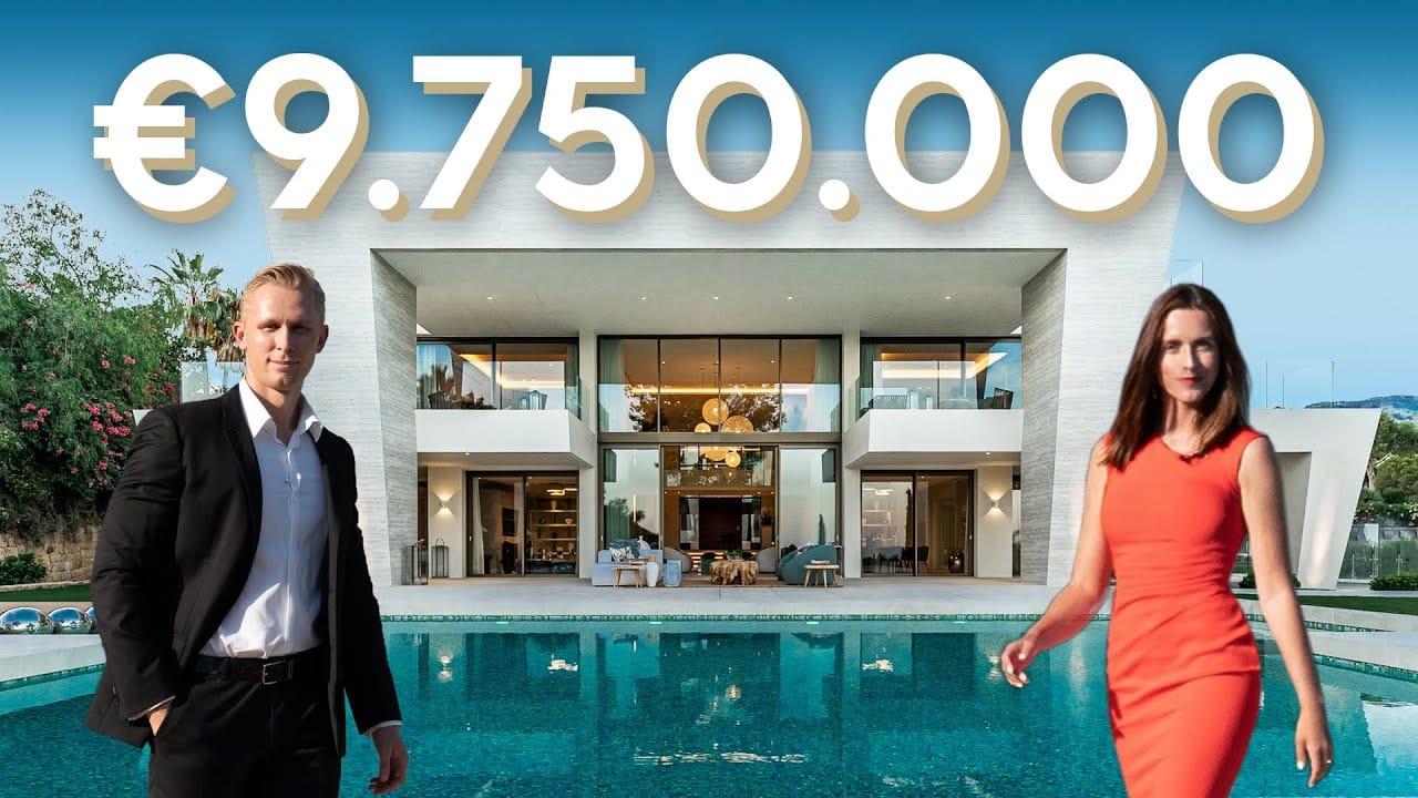 Touring insane €9.750.000 Modern Villa in Marbella, Sierra Blanca
