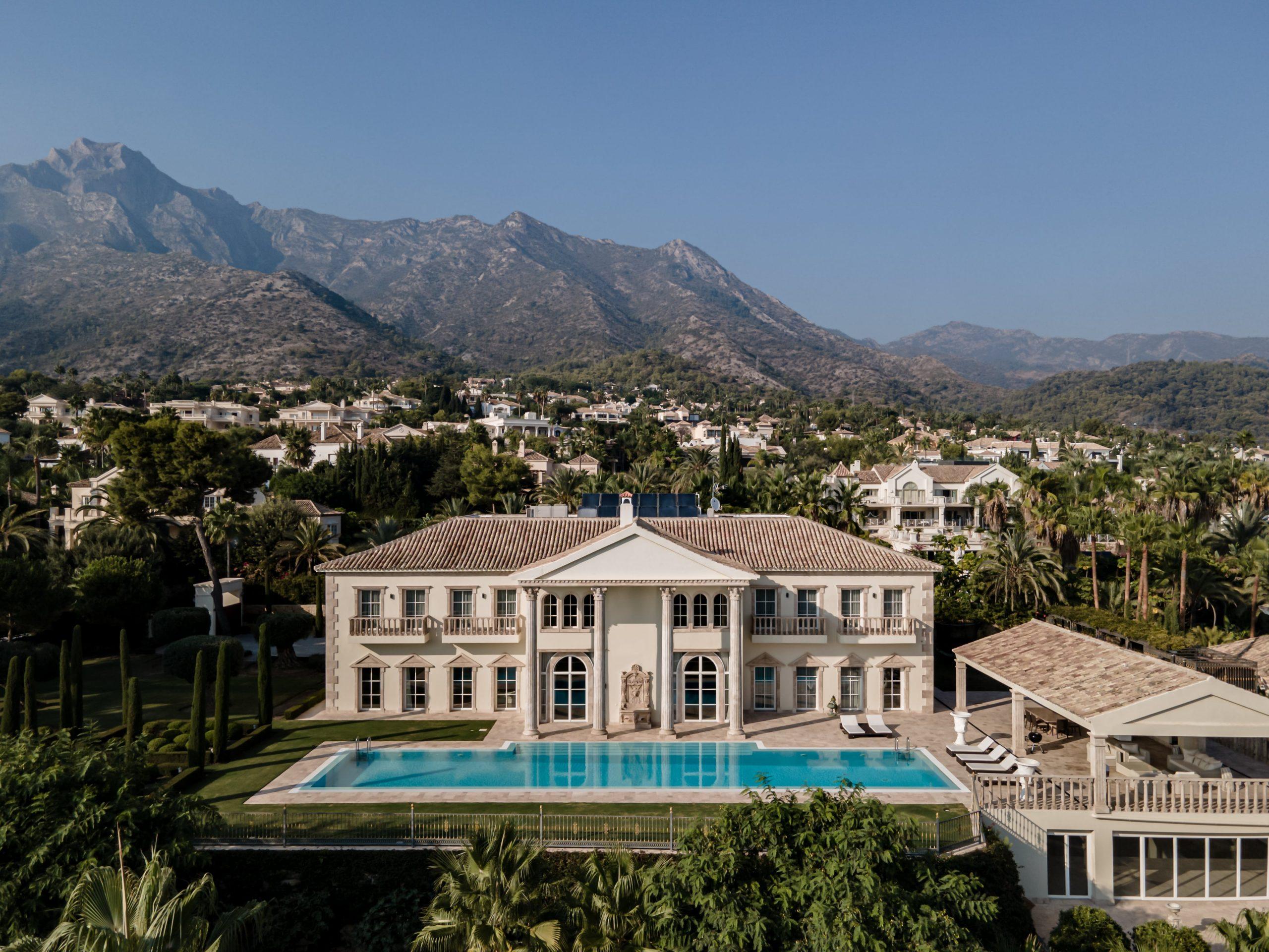 Sierra Blanca Mega Mansion Façade