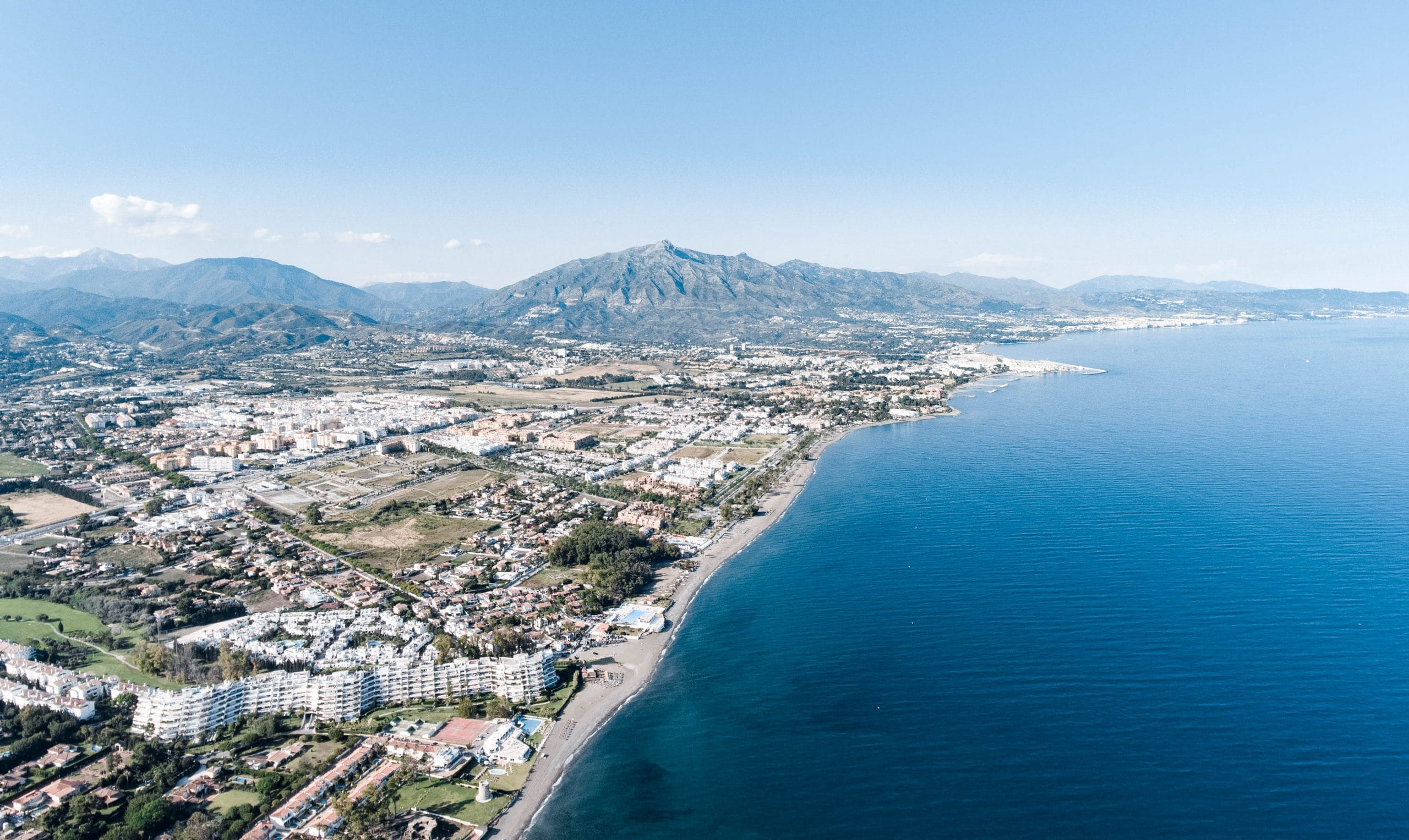 View of Marbella coast
